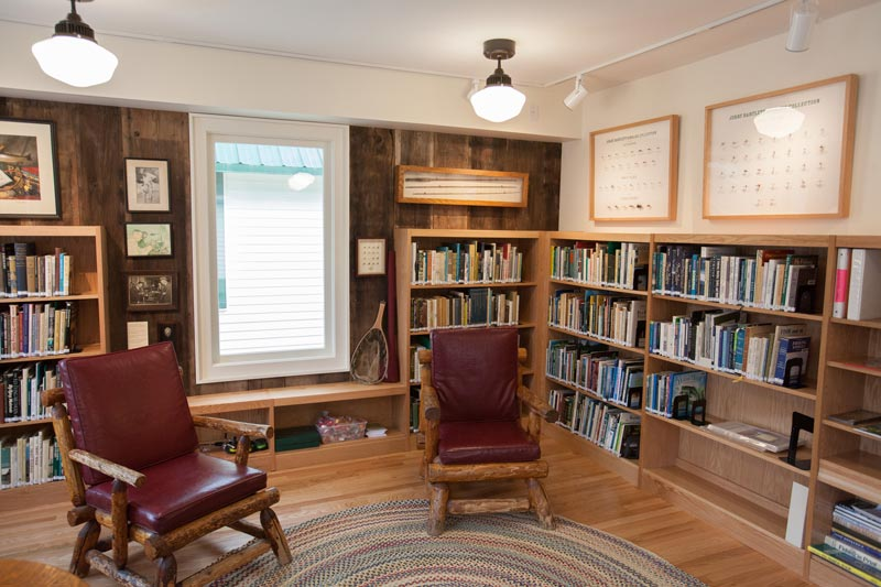 Angler's Parlor and library